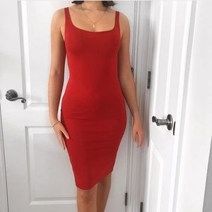 RED BODYCON DRESS , Perfect condition